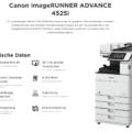 Canon iR ADVANCE 4525i Technische Daten