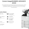Canon iR ADVANCE 4545i Technische Daten
