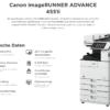 Canon iR ADVANCE 4551i Technische Daten